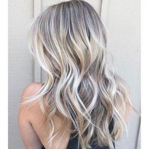 grey blonde balayage