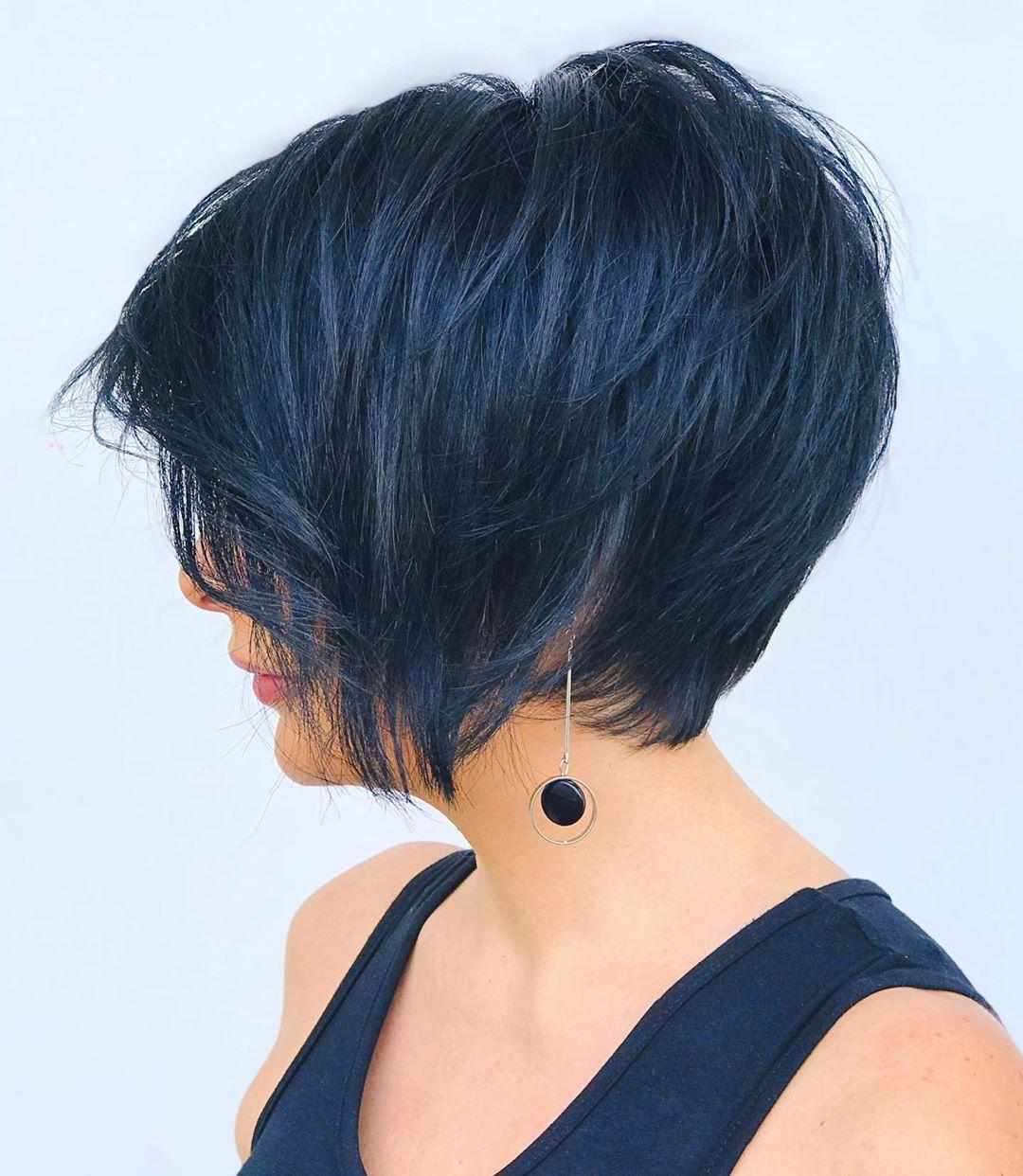 layered hair bob haircut