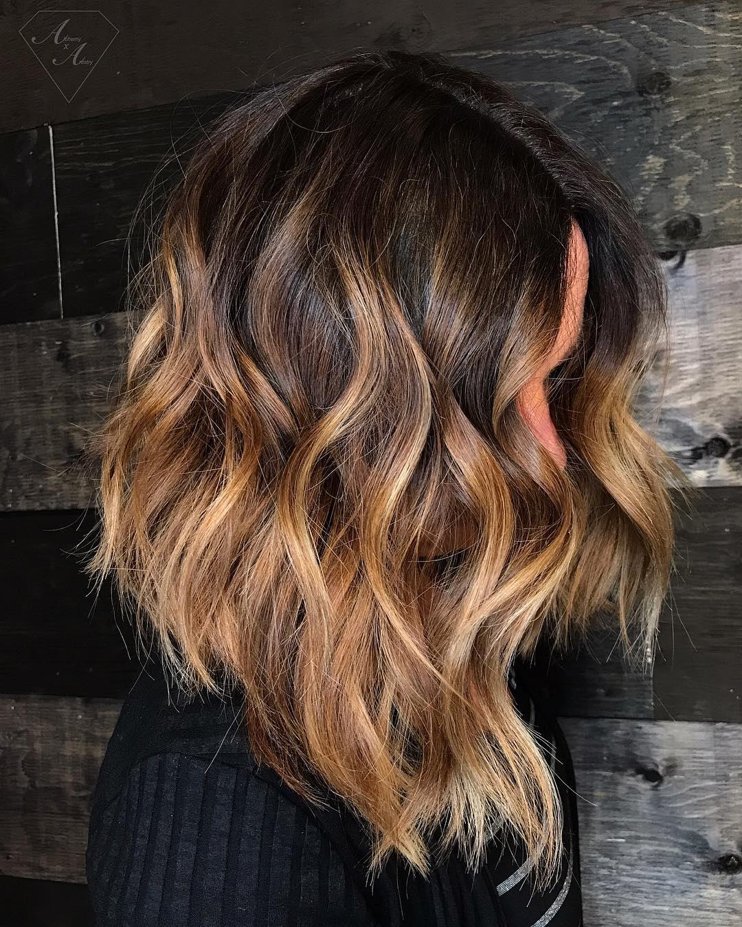 Angled Lob Hairstyle