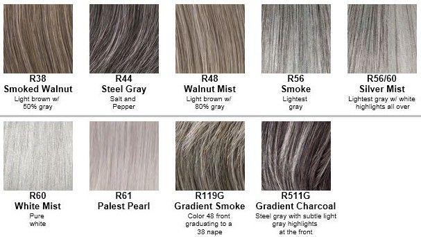 grey hair colour chart