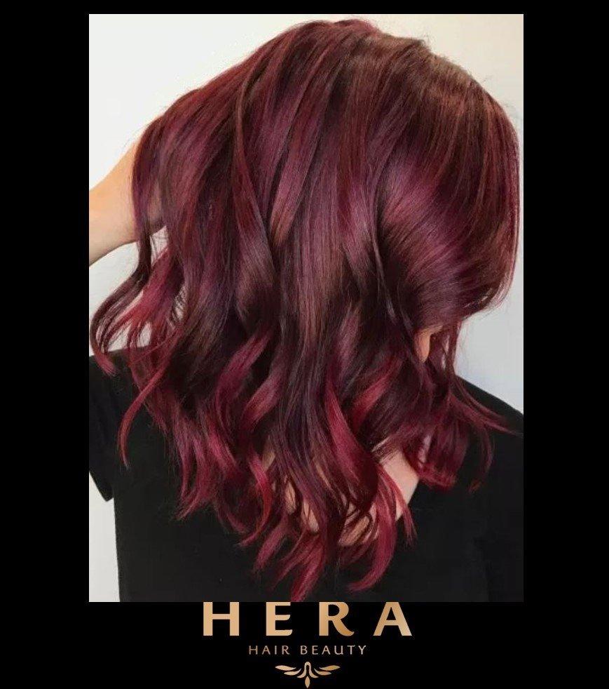 Berry Burgundy Hair Color