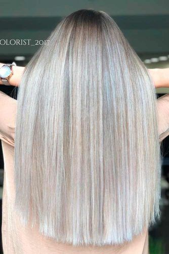 All-Over Cool Blonde #straighthair #hairhighlights