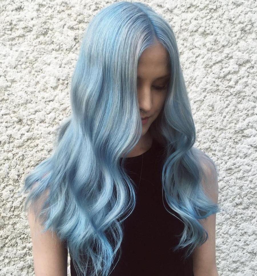 hair light blue - Karice