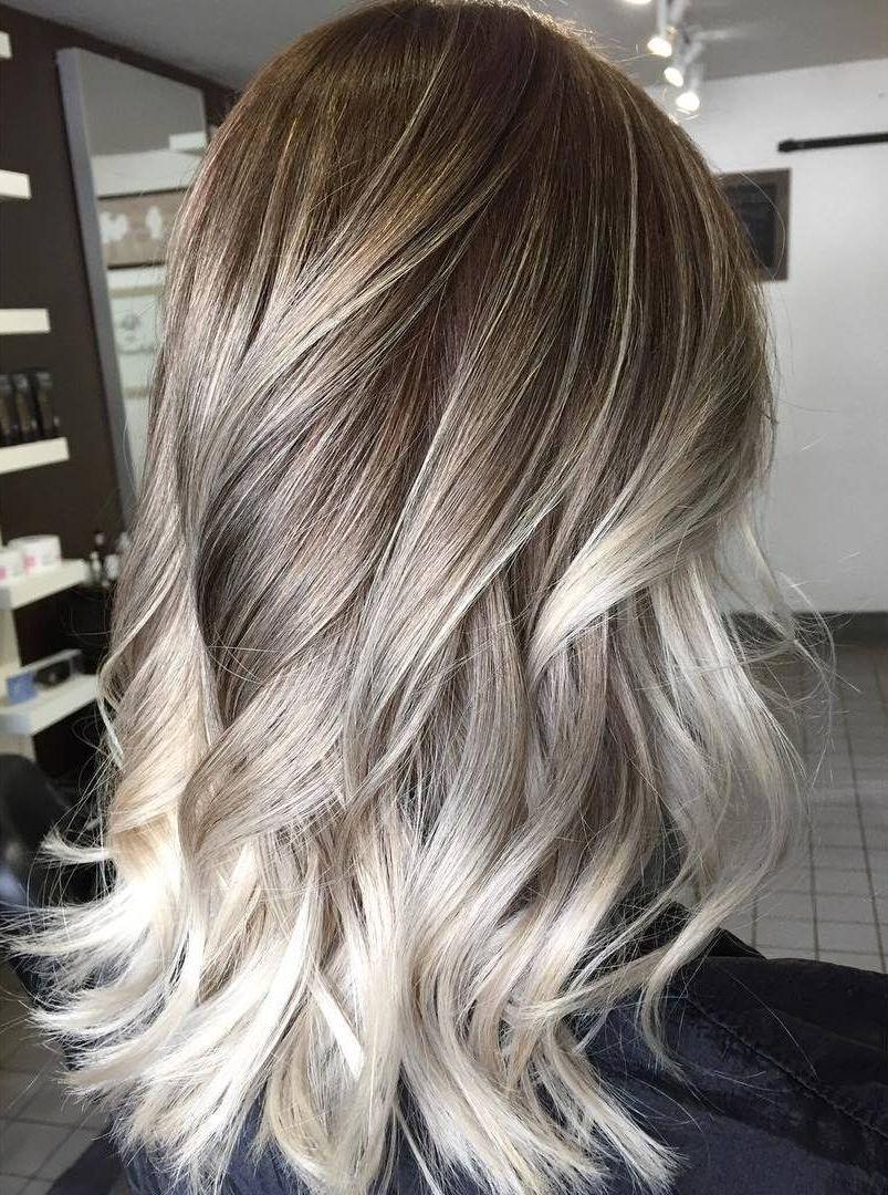 Platinum Blonde Highlights On Dark Blonde Hair | Balayage hair ...