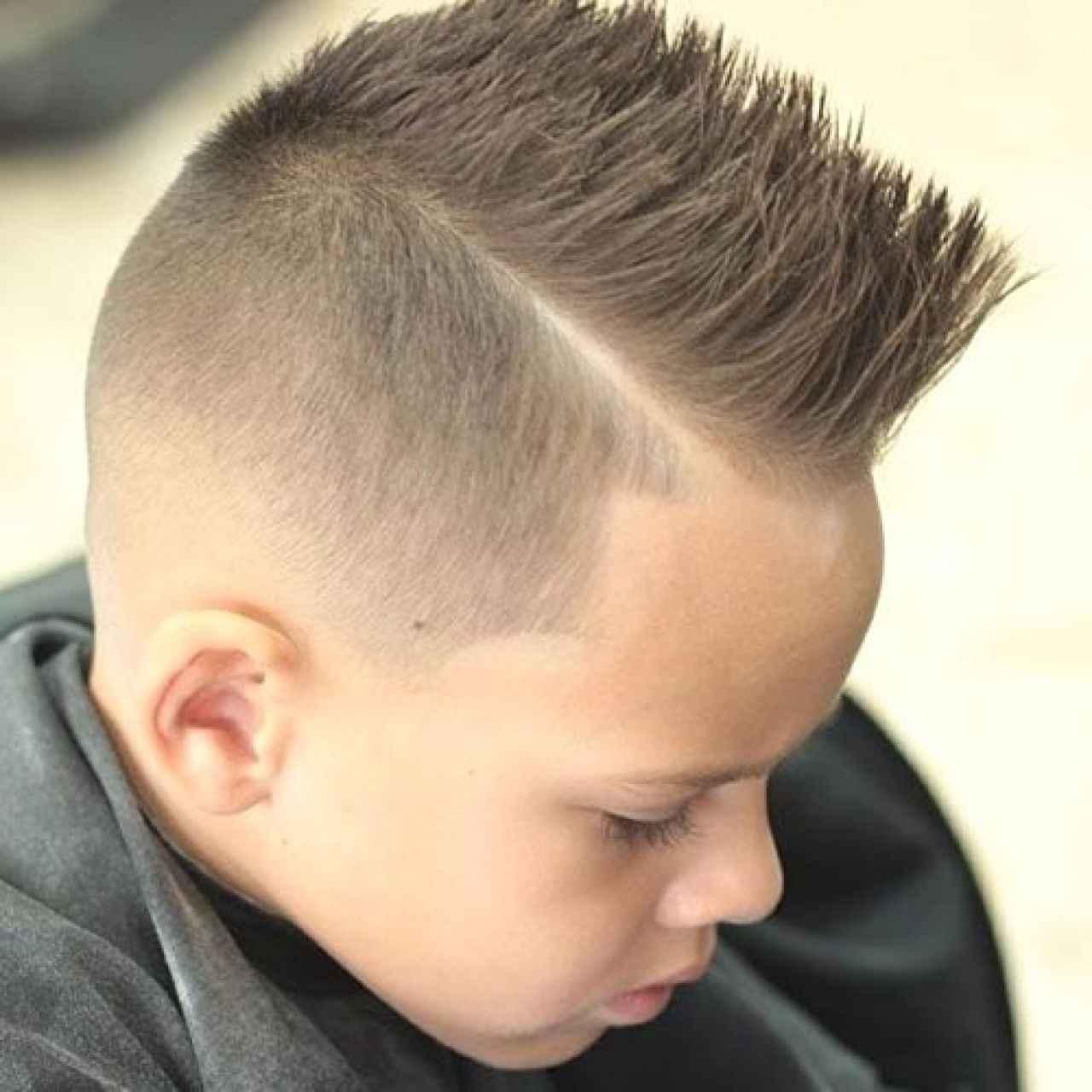 20. Hard Part Spiky Hair
