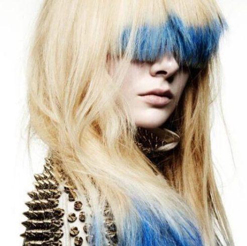 bangs reverse ombre hair