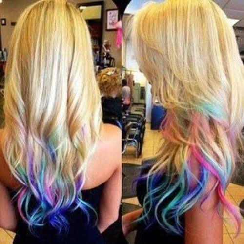 rainbow reverse ombre hair