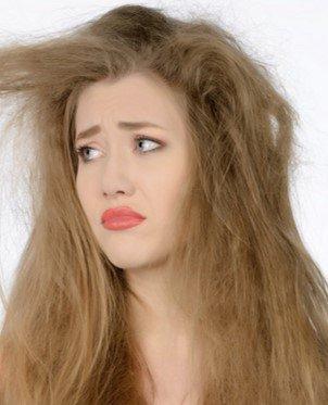 damaged hair type 2
