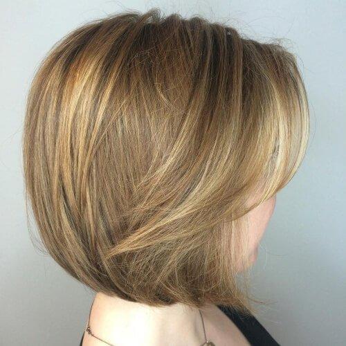 Bob Haircut for Fine Hair with Wispy Highlights