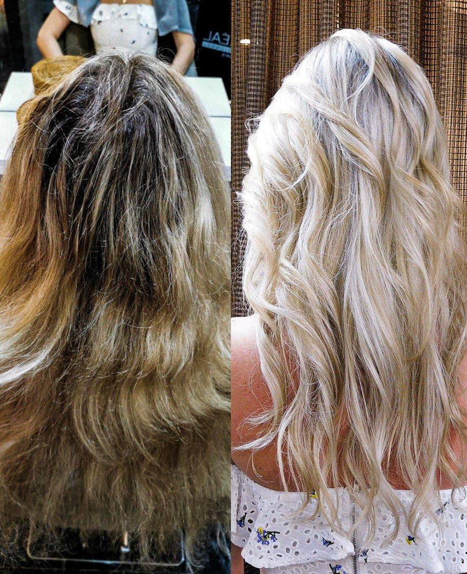 full head blonde highlights