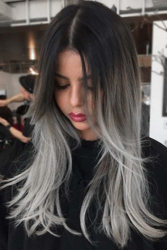 Salt And Pepper Ombre #ombre #saltandpepperhair