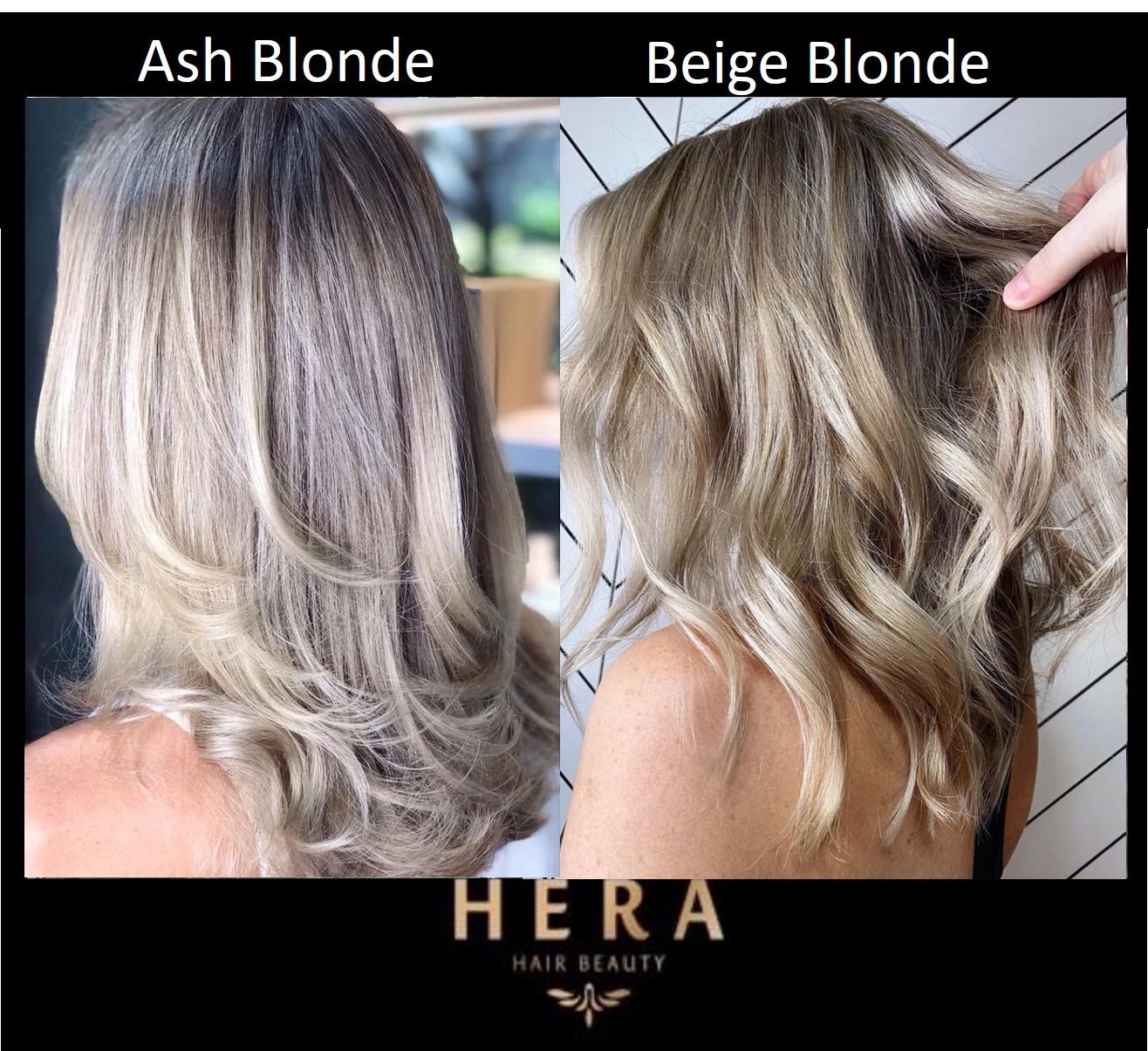 ash blonde vs beige blonde